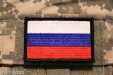 RUSSIA RUSSIAN USSR TACTICAL FLAG EMBROIDERED PATCH WITH HOOK LOOP