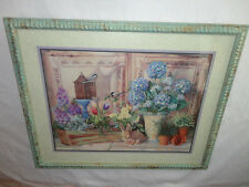 Home Interiors Large '' Gardening / Flowers/ Birds '' Picture   24'' x 30''