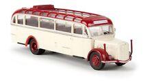 Brekina 1/87: 58076 Saurer BT 4500 Bus, hellelfenbein/rot, offenes Rolldach