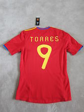 2010 SPAIN TORRES Authentic Official Soccer Jersey Football shirt [S]World Cup