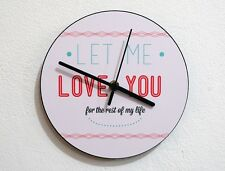 Valentines Day For The Rest Of My Life - Wall Clock