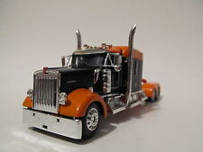 DCP 1/64 scale W-900 Kenworth Mid Roof Orange/Black long frame (Tractor Only)