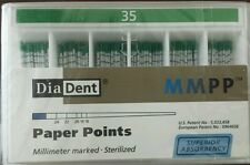 Diadent Absorbent Paper Points Size 35 ISO Color Coded Box of 200