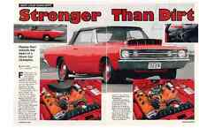 1968 DODGE HEMI DART CONVERTIBLE  ~  NICE 3-PAGE ARTICLE / AD