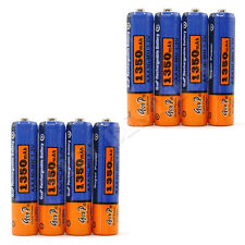 8pcs AAA 3A 1350mAh 1.2V NiMH Recharge Rechargeable Battery cell