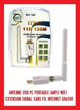 ANTENNE USB PC PORTABLE MAC LINUX AMPLI WIFI SIGNAL SANS FIL INTERNET GRATUIT