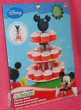 Mickey Mouse Cupcake/Treat Stand, Cardboard,Wilton,1512-7070,Black/Red