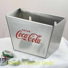 Coca Cola Coke Stainless Steel Cap Catcher for Wall Mount Bottle Opener NEW!!