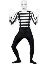 ADULT MALE MIME SECOND SKIN HALLOWEEN SMIFFYS FANCY DRESS COSTUME - LARGE