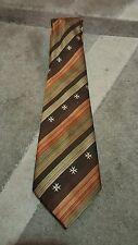 Cravatta  Malta hand made tie necktie  vintage brown regimental croce