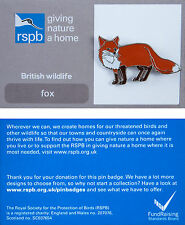 RSPB Pin Badge | Fox | GNaH backing card [00186]