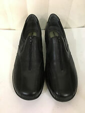 Hush Puppies ERIE ST Zipper Black/Brown Leather Loafers Size 6.5-10 Wide