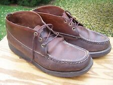 Vintage Russell Moccasin Co Men's Size 10.5 Chukka Ankle Boots Brown Leather