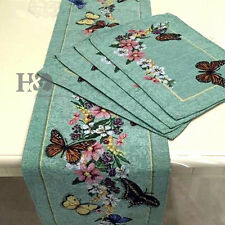 Rustic Butterfly Garden Table Runner Placemat Table Mats Wedding Party Decor