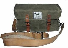 WILL LEATHER GOODS KHAKI WAXED CANVAS WITH LEATHER TRIM BUSHCRAFT BAG