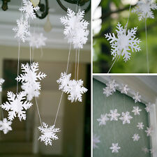 Christmas Party Decorations Supplies White 3D Snow Snowflakes Hanging Ornaments