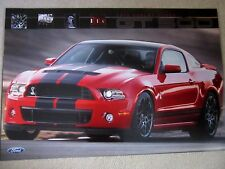 "2013 Ford Mustang SHELBY GT 500 poster  - 2- sided NEW  24"" X 36"""