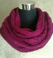 Ladies Soft Cable Knit Multi Wear Snood/Cowl/Scarf/Shawl  BNWT
