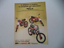 advertising Pubblicità 1978 MOTO VILLA CROSS 125/ENDURO 250/380