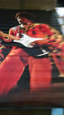 1973 Jimi Hendrix Jimi in Red on stage  vintage new  NOS poster HBX58