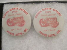 2 OLD VINTAGE 1979 POWER ASS'N TRACTOR PINS PINBACKS COLLECTIBLE