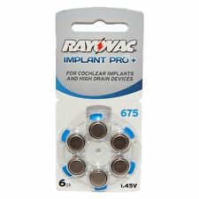 Rayovac Mercury Free Implant Pro+ Hearing Aid Batteries x60 Size 675