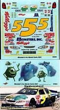 NASCAR DECAL # 5 MONSTERS INC. 2001 MONTE CARLO TERRY LABONTE WETWORKS WW81