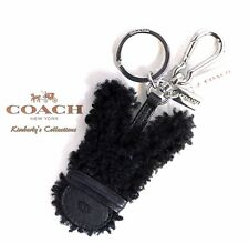 COACH Limited Edition Baseman Emmanuel Hare Bunny Key Chain Fob Purse Charm NWT