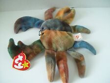 Ty Beanie Babies~4th Generation~Claude The Tye Dye Crab~Good Heart Tag~E1