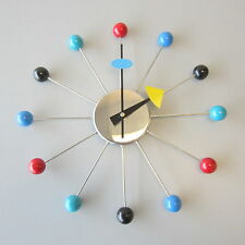 MCM Retro Mid Century Eames George Nelson Multi-Colored Ball Wall Clock
