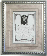 "New""THE WHOLE ARMOR OF GOD"" Large Framed Bible Scripture Plaque, Christian Gifts"