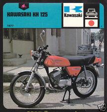 1977 KAWASAKI KH 125 Motorcycle Picture History CARD