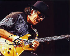 REPRINT - CARLOS SANTANA 4 autographed signed photo copy reprint