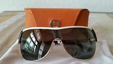 TORY BURCH SHIELD SUNGLASSES TY 6033 302271  IVORY TORTOISE/GOLD NWT + CASE