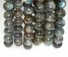 13-14MM BEAUTY LABRADORITE GEMSTONE ROUND LOOSE BEADS 7""