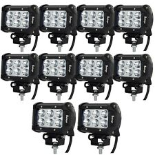 10 X 4'' 18W CREE LED WORK LIGHT BAR Spot offroad 4X4 ATV truck boat tractor 36W