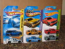 Hot Wheels Nice Lot of 6 '07 Chevy Silverado Variation Blue Yuma Police Flames