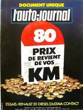 L'Auto-journal n°1 - 1980 - Renault 20 GTD - Luigi Colani -Pra-loup Foux d'Allos