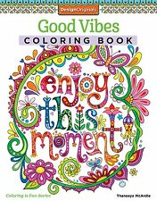 Good Vibes Coloring Book(Coloring Is Fun) by Design Originals[Coloring Book] NEW