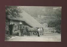 Devon BRANSCOMBE Village Smithy Farrier at work c1920/40s? RP PPC sharp image