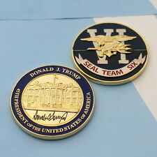 challenge coin  WHITE HOUSE  DONALD TRUMP  NAVY SEAL TEAM (blue)