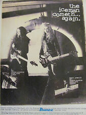 White Zombie, Ibanez Guitars, J. and Sean Yseult, Full Page Promotional Ad