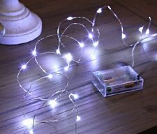 Micro 20 LED Fairy Party Bedroom Child room Mood Rice Lights Cool White UK SALE
