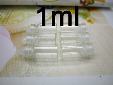 100 pcs 1ML Size Clear Glass Bottle Sample Vials with Plastic Lid 11x22mm MA New