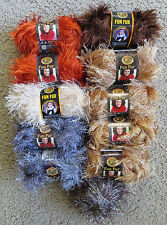 Lot 10 NEW Lion Brand Fun Fur plus Yarn Bee Skeins PLUS PLUS Diff Colors
