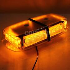 12V RECOVERY STROBE AMBER LED FLASHING LIGHT EMERGENCY BAR MAGNETIC BEACON LAMP
