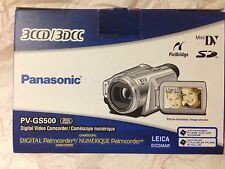 Panasonic Palmcorder PV-GS500 Camcorder - with many accessories
