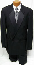 42S Mens Black Double Breasted After Six Tuxedo Jacket Discount Costume Cheap