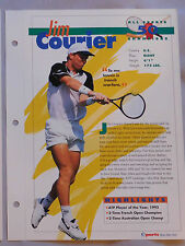 JIM COURIER #50 TENNIS CHAMPIONS SPORTS HEROES BOOKLET