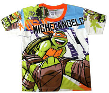 TEENAGE MUTANT NINJA TURTLES MICHELANGELO boys t-shirt Size 10, 7-8y Free Ship